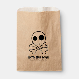 Skull and Bones Halloween Party Favour Bags
