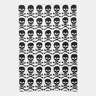 skull and bones kitchen towel