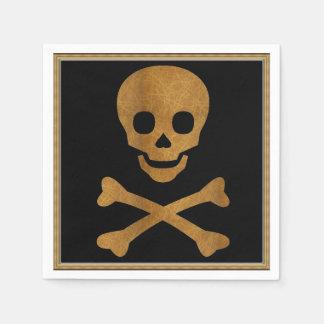 Skull and Bones Paper Napkin