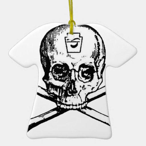 Skull and Bones - Secret Society Christmas Ornament