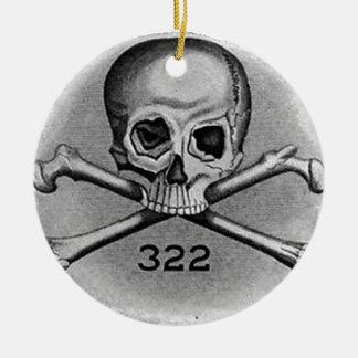 Skull and Bones Secret Society Illuminati Christmas Ornaments