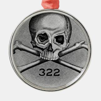 Skull and Bones Secret Society Illuminati Ornament