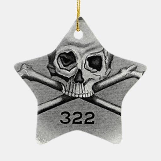 Skull and Bones Secret Society Illuminati Ornaments