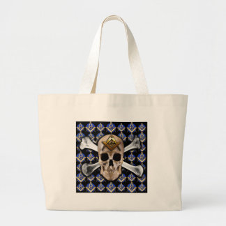 Skull and Bones Square Compass Black Bag