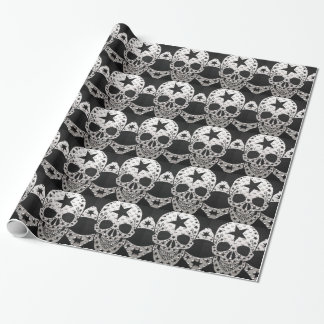 Skull and Bones Wrapping Paper