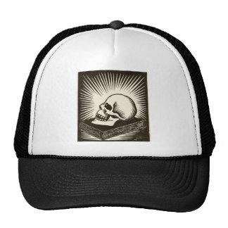 Skull and Book Trucker Hat