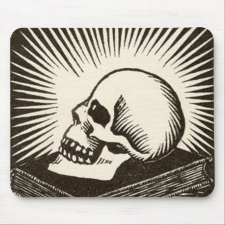 Skull and Book Mouse Mat