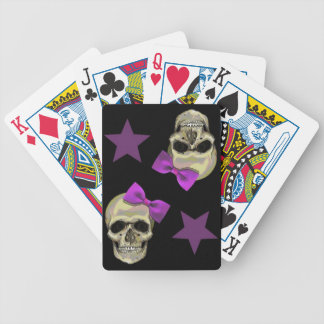 skull and bows card decks