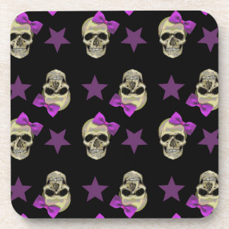 skull and bows drink coaster