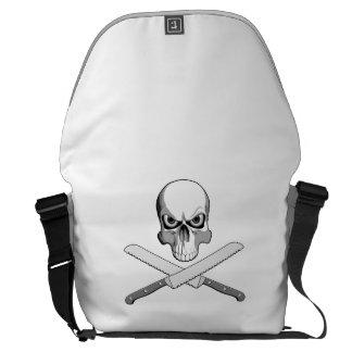 Skull and Bread Knives Commuter Bag