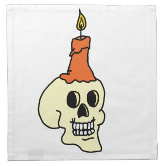 Skull And Candle Napkin