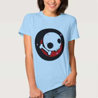 Skull and cherry blossoms t-shirts
