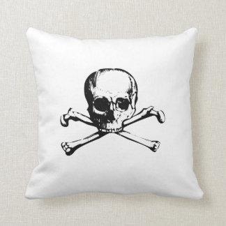Skull and Cross Bone Pillow Throw Cushion