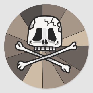 Skull and Cross Bone Stickers! Round Sticker