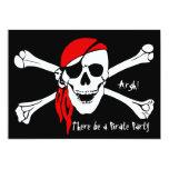 Skull and Cross Bones 13 Cm X 18 Cm Invitation Card