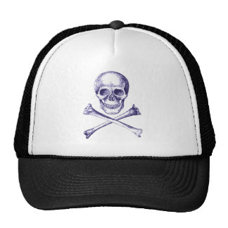 Skull and Cross Bones - Blue Hat