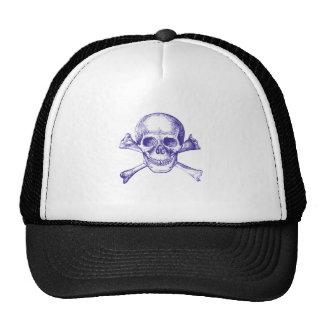 Skull and Cross Bones - Blue Hats