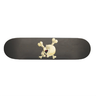 skull and cross-bones design 19.7 cm skateboard deck