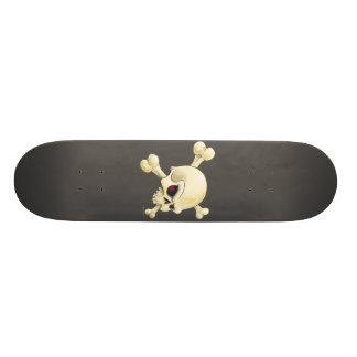 skull and cross-bones design custom skate board