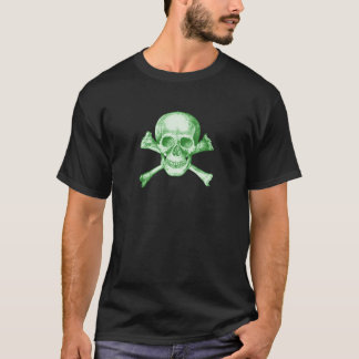 Skull and Cross Bones - Green T-Shirt
