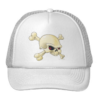 skull and cross-bones mesh hats