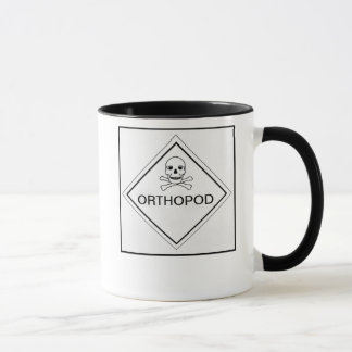 SKULL AND CROSS BONES ORTHOPOD MUG