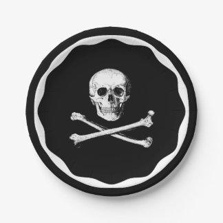 Skull and cross bones paper plates