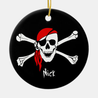 Skull and Cross Bones Pirate Christmas Ornament