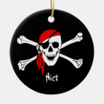 Skull and Cross Bones Pirate Christmas Tree Ornaments