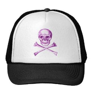 Skull and Cross Bones - Purple Mesh Hats