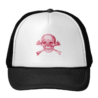 Skull and Cross Bones Red Cap