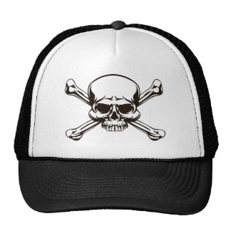 Skull and Cross Bones Sign Cap
