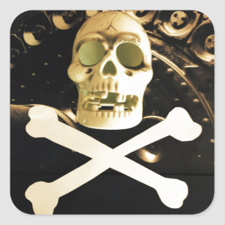 Skull and Cross Bones Square Sticker