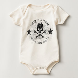 Skull and Cross Bones with Stars Baby Bodysuit