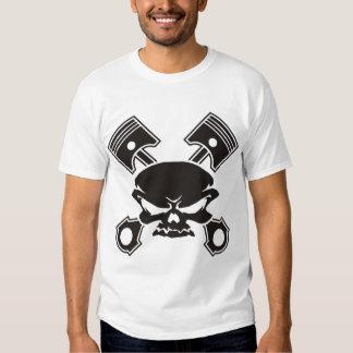 Skull and Cross Pistons T Shirt