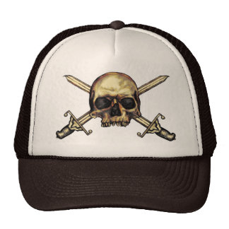 Skull And Cross Swords Hat