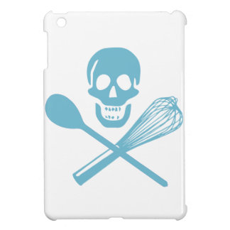 Skull and Cross Whisk Cornflour Blue Case For The iPad Mini