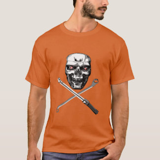 Skull and Cross Wrenches - Plain T-Shirt