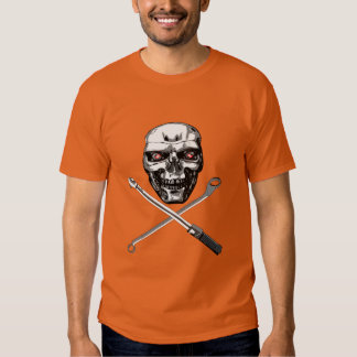 Skull and Cross Wrenches - Plain T-shirts