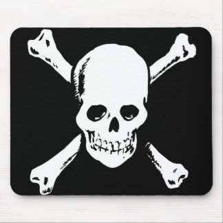 skull and crossbone mouse mat