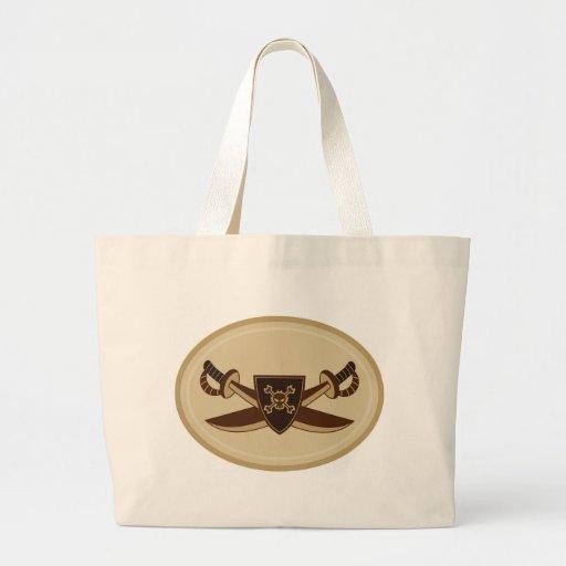 Skull and Crossbone Pirate Swords Bag