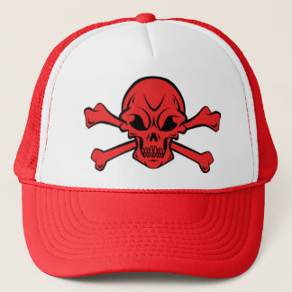 skull and crossbone trucker hat