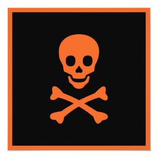 Skull and Crossbones 13 Cm X 13 Cm Square Invitation Card
