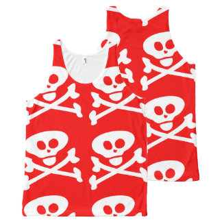 Skull and Crossbones All-Over Print Tank Top