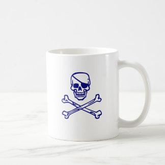 Skull and Crossbones Basic White Mug