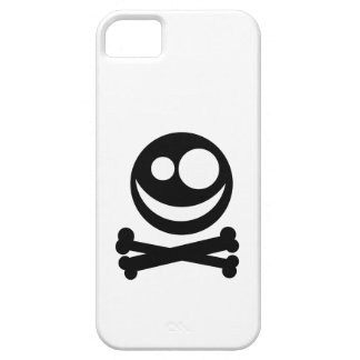 Skull and Crossbones. Black and White. Barely There iPhone 5 Case
