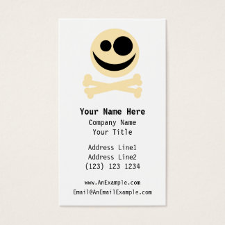Skull and Crossbones. Business Card