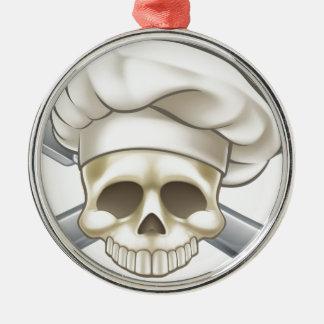 Skull and Crossbones Chef Christmas Ornament