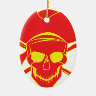 Skull and Crossbones Christmas Ornament