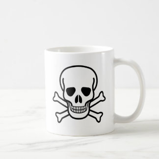 skull and crossbones coffee mug